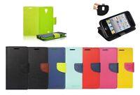 ^ Book Case Cover Hülle Handy Tasche Leder-Imitat Etui Flip Lenovo A6000