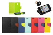 "^ Book Case Hülle Handy Tasche Leder-Imitat Etui Flip Alcatel Pixi 3 4,5"""