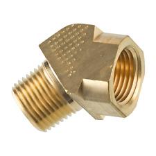Brass Pipe Fitting 45 Degree Street Elbow 3/8 NPT Male X 3/8 NPT Female