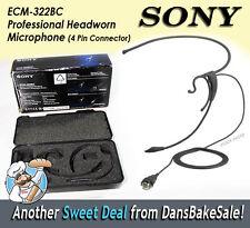 Sony ECM-322BC Professional Headworn Microphone (w/ 4 Pin Connector) B-Stock