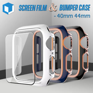 For Apple Watch Series 6 5 4 SE Bumper Hard Case Cover+Screen Protector 40/ 44mm