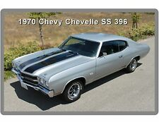 1970 Chevrolet Chevelle SS 396 Silver Auto Refrigerator / Tool Box Magnet