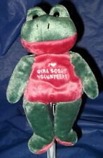 """~RARE~ BRAND NEW  *MARY MEYER """"I LOVE GIRL SCOUT VOLUNTEERS""""  BEANIE FROG"""