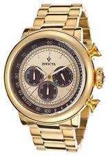New Mens Invicta 15064 Vintage Chronograph Gold Tone Bracelet Watch