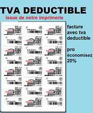 Étiquettes pour timbre - lettre suivie en ligne, planche de 12 lettres suivies
