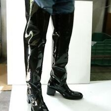 Men size 32 inches tall patent leather cowboy boots made to oreder to your size.