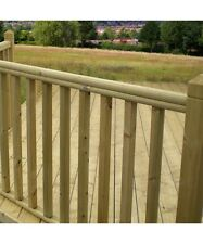 More details for treated timber garden decking handrail / baserail - fits 32mm + 41mm spindles