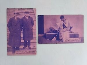 2 Vintage AMOS & ANDY CABINET CARDS  #'s 14 & 16
