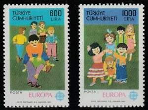 Turkye postfris 1989 MNH 2854-2855 - Europa / Kinderspelen