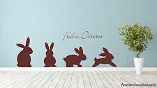 Osterhasen Frohe Ostern Wandtattoo Wandbild Aufkleber Folie Walltattoo #7780