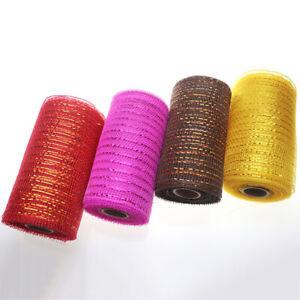 10 Yards15cm Glitter Mesh Web Ribbon Wedding Craft Gift Wrap Floristry Cake