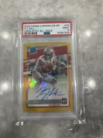 2020 Contenders Gold Optic Rated Rookie KJ Hill 3/10 PSA 9