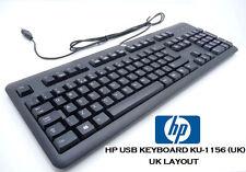 HP TASTIERA HP NERO TASTIERA USB KU-1156 672647-033 (Nuovo Modello) - LAYOUT UK