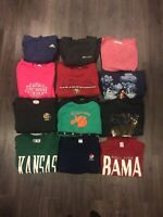 Lot Of 5 Vintage Crewnecks 80's And 90's Various Sizes And Graphics Resale Lot