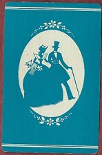 Swap Playing Vintage Art Deco Cards    Silhouette   Lady & Man Strolling along