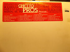 GHETTO PROS PRESENTS (VINYL 2LP)  2001!!  RARE!! BEATNUTS + KOOL G RAP + BIG L!!