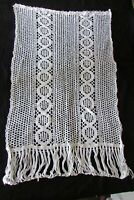 "Antique French Singular Handmade Crochet Curtain Hallway Curtain Drape 20"" x 32"""