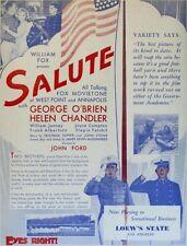 Salute - 1929 - George O'Brien John Ford John Wayne - Vintage Rare b/w Film DVD