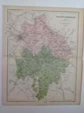 Warwickshire, 1861 Antique Map, County, Hughes, Atlas