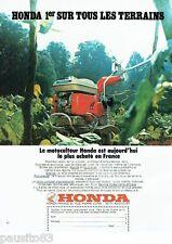 PUBLICITE ADVERTISING 106  1973  le motoculteur Honda