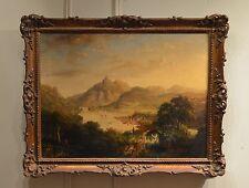 Delightful 18th Century Oil on Canvas of a 'Romantic Scene'