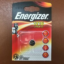Energizer 1216 CR1216 3V Lithium Coin Cell Battery DL1216, BR1216 LONGEST EXPIRY