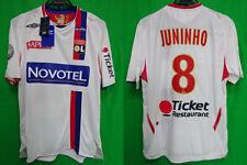 2007-2008 Olympique Lyonnais Jersey Shirt Maillot Home NOVOTEL Juninho #8 L BNWT