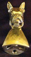 Boston Terrier Wall Mounted Bottle Opener in Bronze