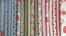 18 Piece Patchwork Bundle 100% Cotton 10cm Fabric Squares includes Cath Kidston