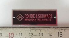 Emblem/insignia-Rhode & Schwarz Munich