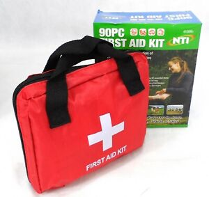 90 PCS EMERGENCY FIRST AID KIT BAG MEDICAL TRAVEL HOME OFFICE VEHICLE CAR TAXI