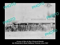 OLD POSTCARD SIZE PHOTO OF BALLARAT VICTORIA VIEW OF WINDERMERE HOTEL c1905