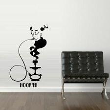 Wall Decal Sticker Hookah Hooka Shisha Lounge Relax Inscription Bar Hause M1569