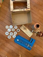 Vintage 17pc MIRRO Spritz Cookie Cooky Pastry Press Box Recipe Immaculate Mint