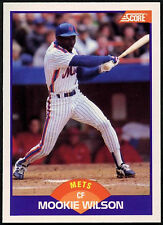Mookie Wilson, tarjeta de béisbol Mets #302 puntuación de 1989 (C380)