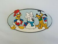 Disney Auctions Minnie Mouse Snowman Winter Fun Donald Pluto  LE 100 Pin 29029