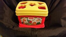 Fisher Price Babys First Blocks and Ring Stacker Plastic Toys Bucket Shapes Game
