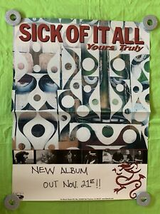 """Sick Of It All """"Yours Truly"""" POSTER Fat Wreck Chords 24x18"""
