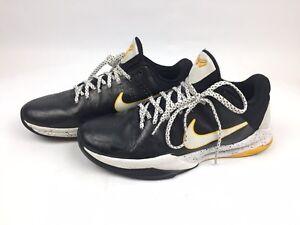 Nike Zoom Kobe V 5 Mens White Black Del Sol Lakers 386429-002 Size 8.5