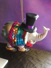 Gisela Graham Elephant Collectable Glass Christmas Tree Novelty Bauble -325
