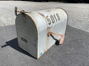 "Vintage XL Oversized Rural Farm Mailbox Galvanized Steel Large 23.5"" x 15"""