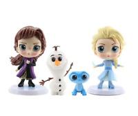 Set 4 Figura Elsa Anna Olaf Kristoff Frozen 2 Disney Exclusive niña toy juguete