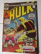 HULK  186 Trimpe  B & W French comic Heritage 45 Québec 1975 Rare!