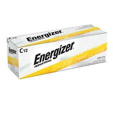 12 Energizer Industrial C Alkaline Batteries (EN93, LR14)