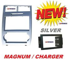 05-07 MAGNUM CHARGER SILVER CAR RADIO STEREO DOUBLE DIN INSTALLATION DASH KIT
