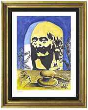 "Salvador Dali Signed/Hand-Numbered Ltd Ed ""Bust Voltaire"" Litho Print (unframed)"