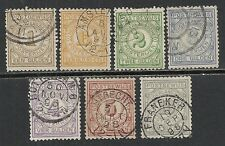 Netherlands stamps 1884 NVPH Postbewijs PW1-PW7  CANC  VF