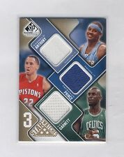 2009-10 SP GAME USED 3 STAR SWATCHES GARNETT /PRINCE /ANTHONY JERSEY #14/35