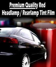 2 x A4 Sheets Red Transparent Car Headlight Rear Lamp Tint Tinting Film