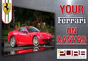 YOUR FERRARI 355 360 430 348 599 Testerossa On CANVAS